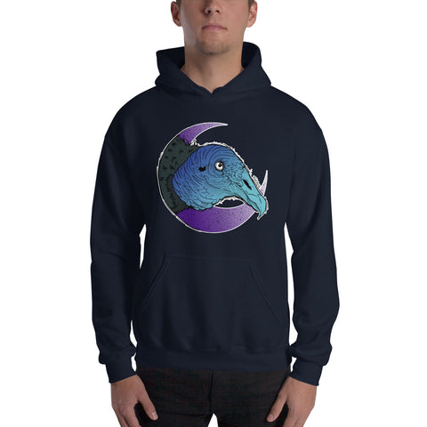 Black Vulture Hooded Sweatshirt - Find Art Co.