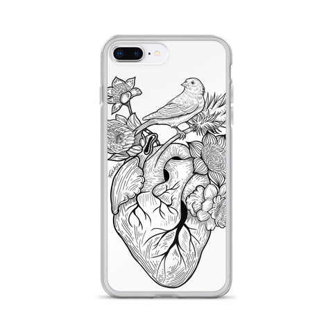 Flower Heart iPhone Case - Find Art Co.