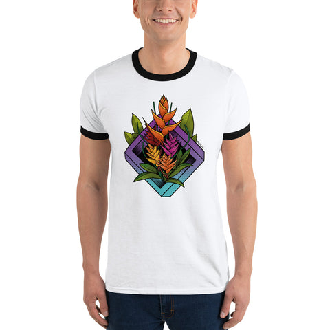 Heliconia Ringer T-Shirt - Find Art Co.