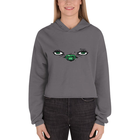 Green Eyes Crop Hoodie - Find Art Co.