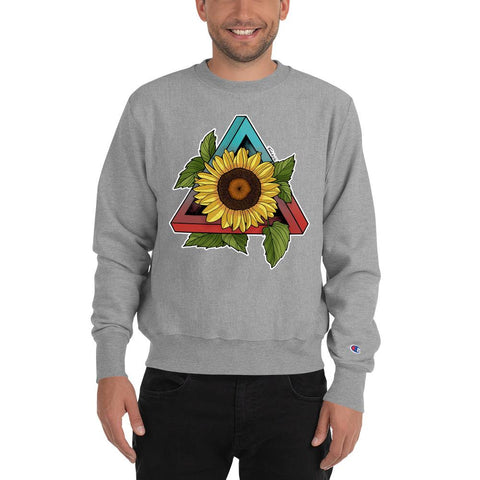 Sunflower Champion® Sweatshirt - Find Art Co.