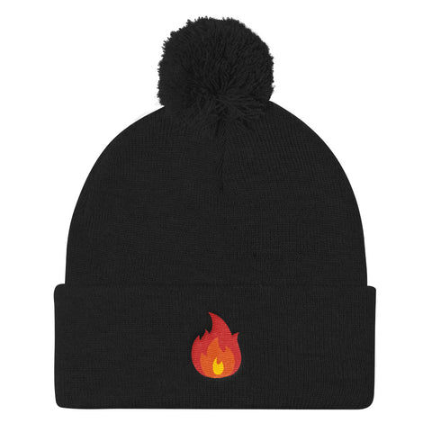 Fire Pom Pom Knit Cap - Find Art Co.