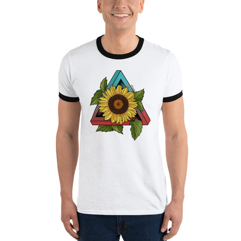 Sunflower Ringer T-Shirt - Find Art Co.