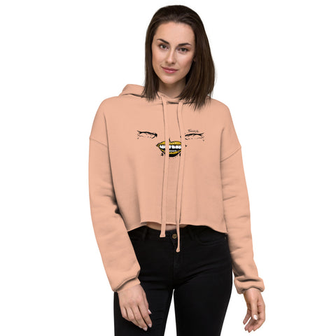 Gold Lipstick Crop Hoodie - Find Art Co.