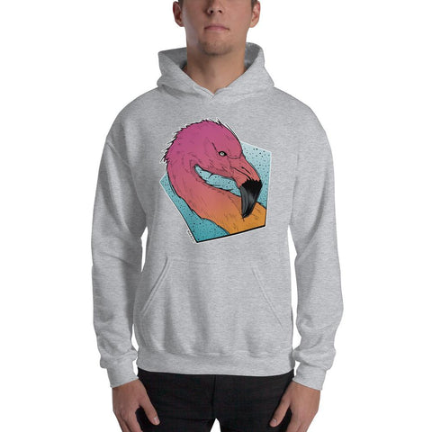 Flamingo Hooded Sweatshirt - Find Art Co.
