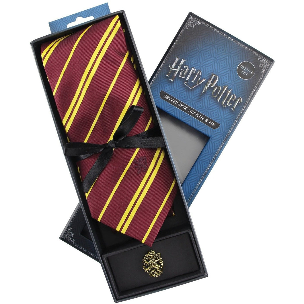 Gryffindor Neck Tie & Pin Set