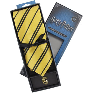 Hufflepuff Neck Tie & Pin Set