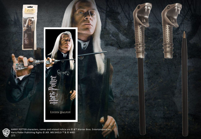 Lucius Malfoy Wand Pen & Bookmark