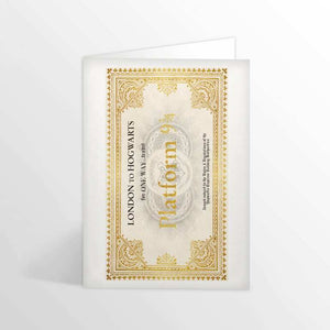 MinaLima Hogwarts Express Ticket Card