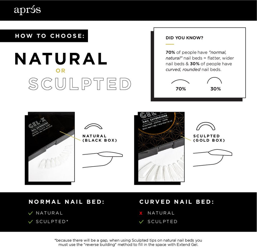 Natural Coffin Medium Tips (Box of 500pcs)