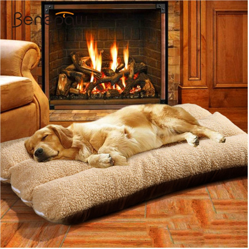 Benepaw Thick Pet Beds For Dogs Washable Soft Medium Large Big Dog Bed House Removable Winter Warm Small Puppy Lounger Luxury