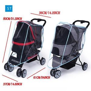 Foldable 3 Wheels Pet Stroller Dog Cat Cart Puppy Pet Stroller Folding Pet Carrier for Travel Walking  Pet Outdoor Jogger Pushch