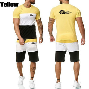 tracksuit for men summer shorts set short sleeve shirt and shorts casual clothing men sports wear gym clothes Men Sweat Suits