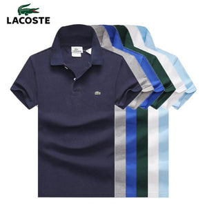 Mens Polo Shirt 2020 New Summer Alpine Star Short Sleeve Turn-over Collar Slim Tops Casual Breathable Solid Color Business Shirt