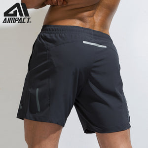 AIMPACT Mens Summer Fitness Shorts Men's Jogger Cansual Knee Length Liner Shorts Bodybuilding Quick Dry Workout Beach Sportwears