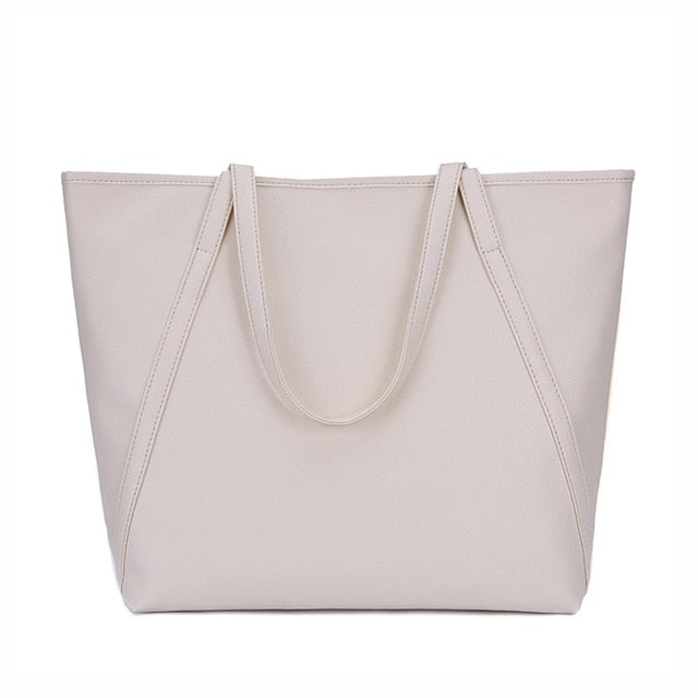 Simple & Spacious Day Bag / Beige