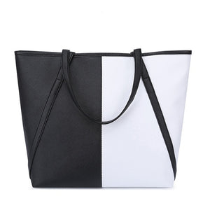 Simple & Spacious Day Bag / Black & White