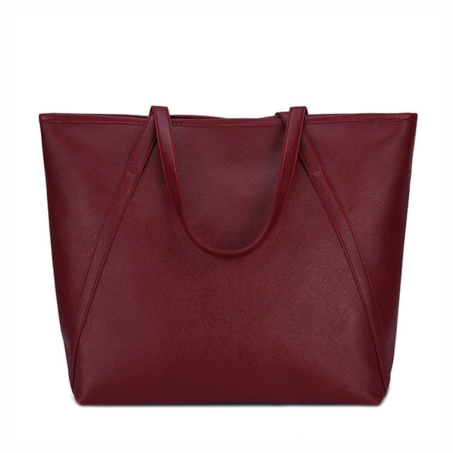 Simple & Spacious Day Bag / Red Wine