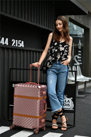 "Travel Aluminium Frame 24"" Suitcase (6 colors available)"