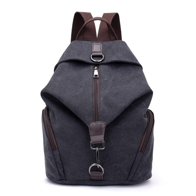 Travel Must-Have Canvas Backpack / Black