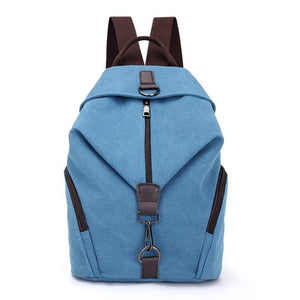 Travel Must-Have Canvas Backpack / Blue