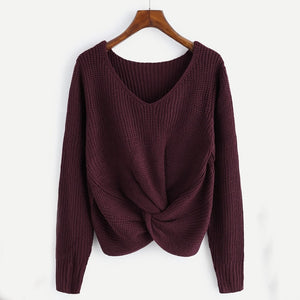 Ozark Knit Sweater / Wine Red