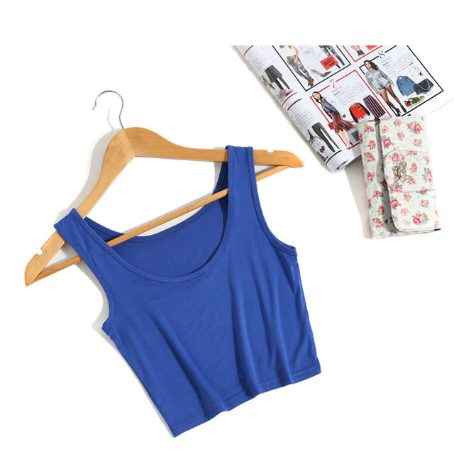 Wanderer Must-Have Crop Top / Blue