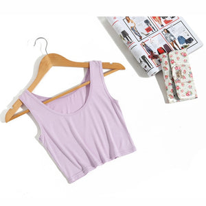 Wanderer Must-Have Crop Top / Purple
