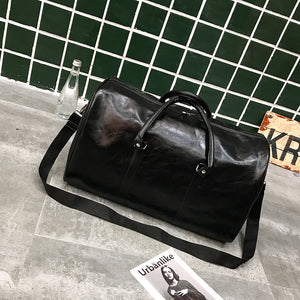 Bon Voyage Leather Duffle / Black