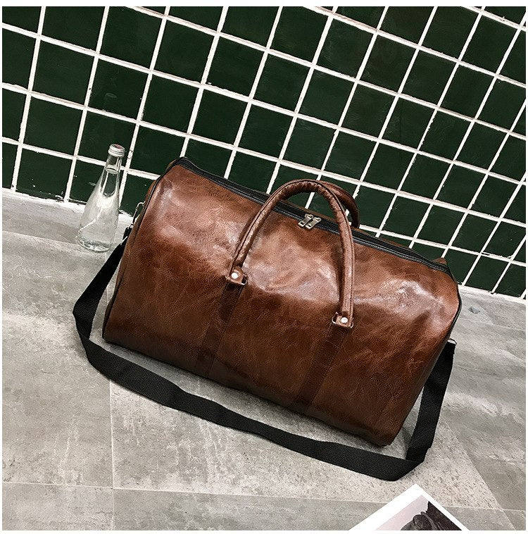 Bon Voyage Leather Duffle / Brown
