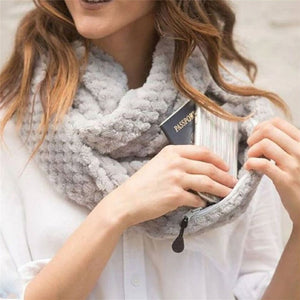 Wanderer Must-Have Hidden Zipper Pocket Scarf (4 colors available)