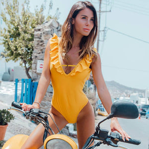 Kamelya Selin Swim Suit / Yellow