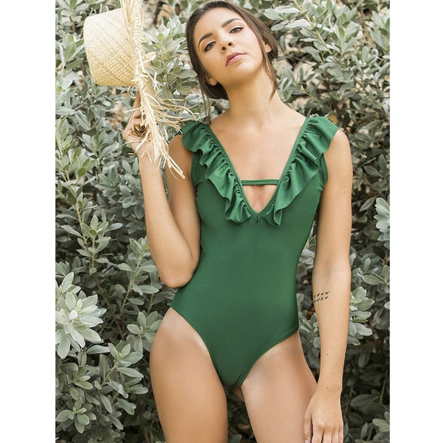 Kamelya Selin Swim Suit / Green