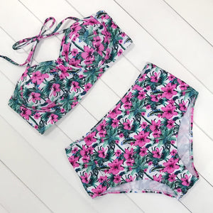 Bali Swim Suit / Green & Pink