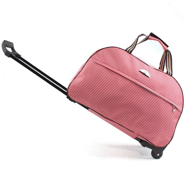 Travel Duffle Trolley / Red