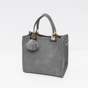 Wanderer Must-Have Leather Handbag / Gray