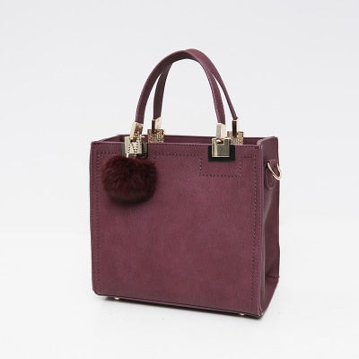 Wanderer Must-Have Leather Handbag / Rosed Red