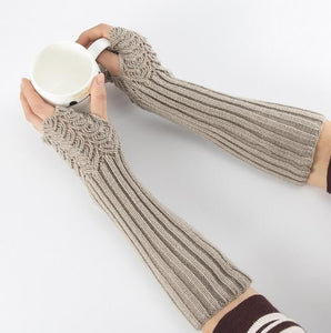 Knitted Finger Mitts / Gray