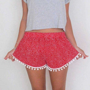 Thailand Tassel Shorts / Red