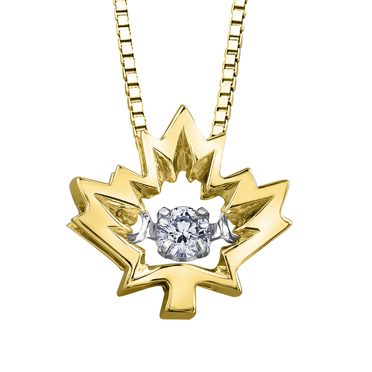 Yellow Or White Gold Canadian Diamond Pendant