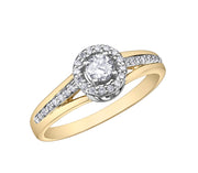 Yellow And White Gold Diamond Ring