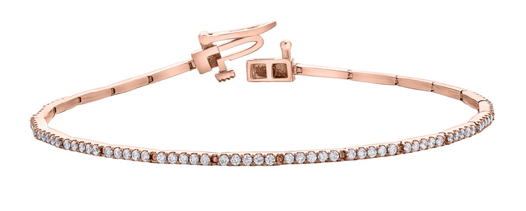 Yellow, White Or Rose Gold Diamond Bracelet