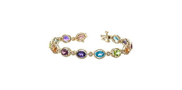 Yellow Gold Gemstone Bracelet