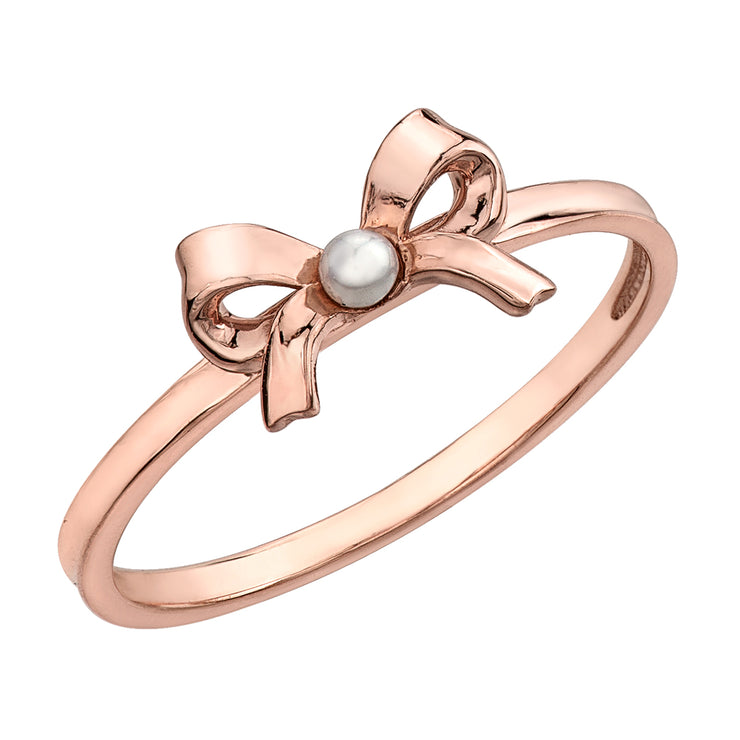 Rose Gold Bow Ring