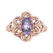Rose Gold Amethyst Ring