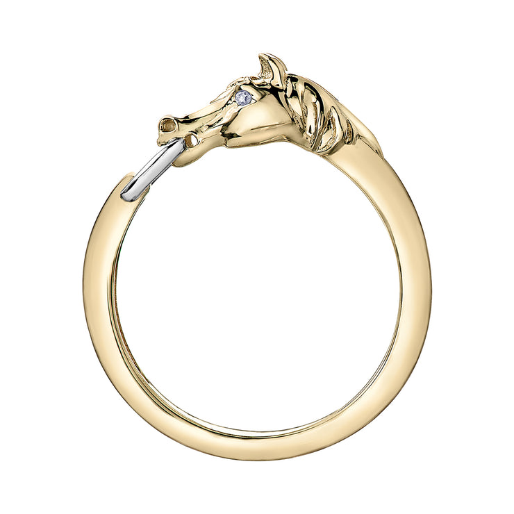 Yellow Gold Horse Ring