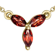 Yellow Gold Garnet Necklace