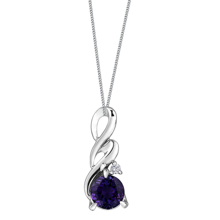 White Gold Amethyst Necklace