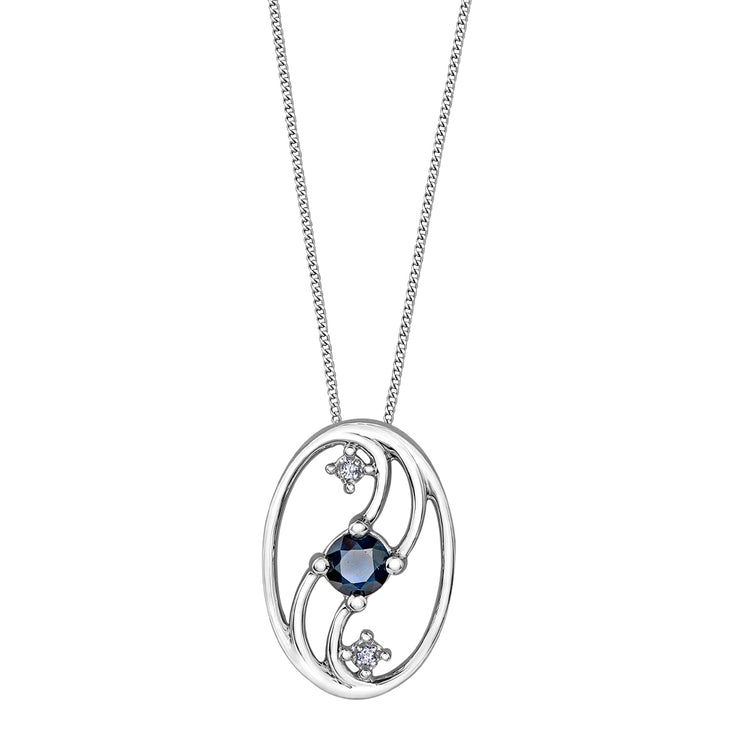 White Gold Sapphire Necklace