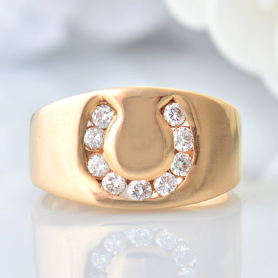 Previously Loved 14Kt Yellow Gold and Diamond Men's Ring